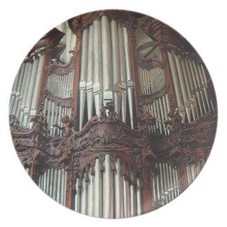 Placa del órgano - catedral de Oliwa, Polonia Platos