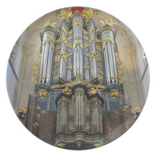 Placa del órgano de Breda Plato De Cena