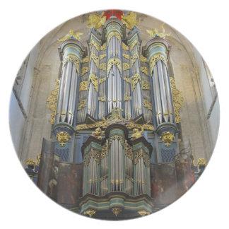 Placa del órgano de Breda Plato Para Fiesta