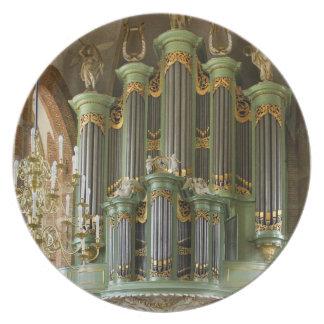 Placa del órgano de Deventer Platos
