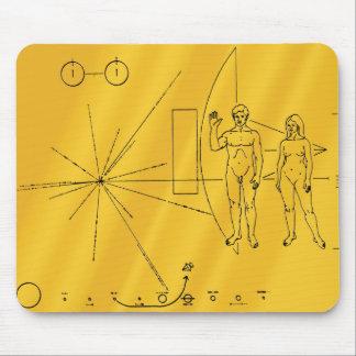 Placa del oro del pionero 10 tapete de ratones