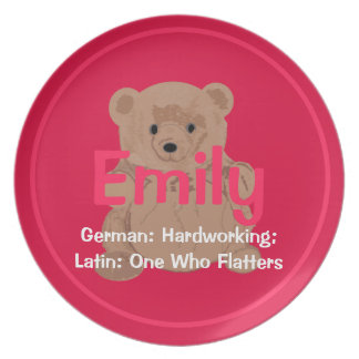 Placa del oso de peluche de Emily Platos De Comidas