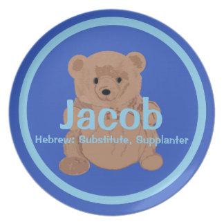 Placa del oso de peluche de Jacob Platos Para Fiestas