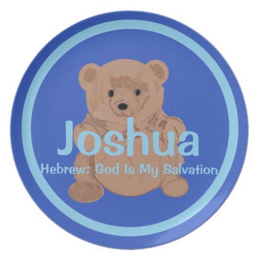 Placa del oso de peluche de Joshua Plato