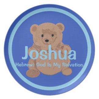Placa del oso de peluche de Joshua Plato Para Fiesta