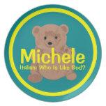 Placa del oso de peluche de Micaela Platos De Comidas
