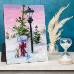 Placa del país de las maravillas del invierno