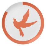 Placa del pájaro de la libertad plato para fiesta
