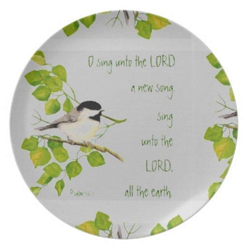 placa del pájaro platos para fiestas
