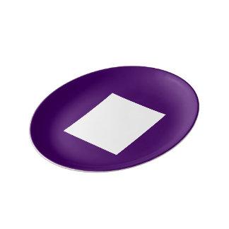 Placa del pan del art déco por la púrpura de Janz Plato De Cerámica