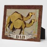 Placa del papá de los camellos del chocolate