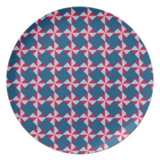 Placa del paraguas plato de cena