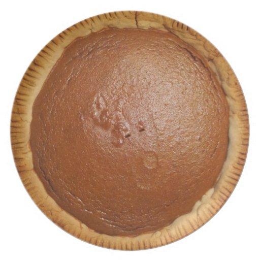 Placa del pastel de calabaza plato de comida
