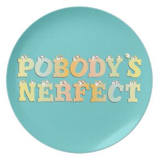 Placa del pastel de Nerfect de Pobody Platos Para Fiestas