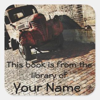 placa del pegatina de la biblioteca del diseño del