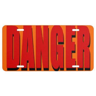 Placa del peligro placa de matrícula