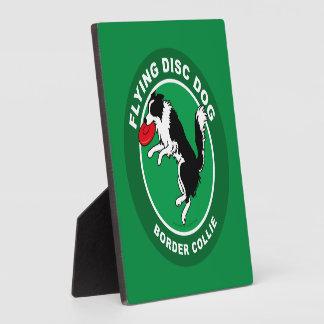 Placa del perro del disco de vuelo del border