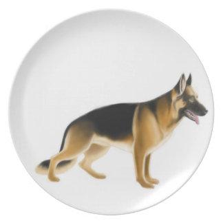 Placa del perro policía del pastor alemán K9 Plato