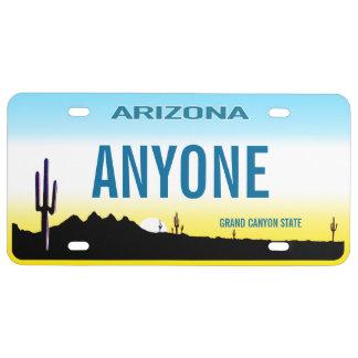 Placa del personalizado de Arizona Placa De Matrícula