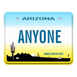 Placa del personalizado de Arizona Tarjetas Postales