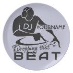 Placa del personalizado de DJ Plato De Cena