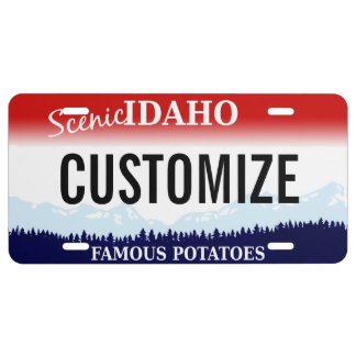 Placa del personalizado de Idaho Placa De Matrícula