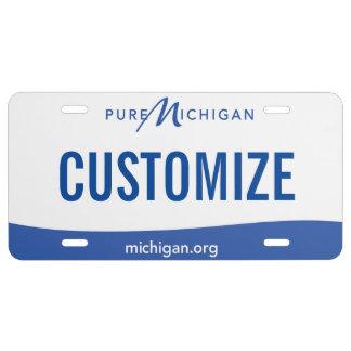 Placa del personalizado de Michigan Placa De Matrícula