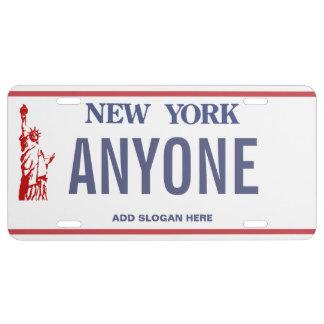 Placa del personalizado de Nueva York Placa De Matrícula