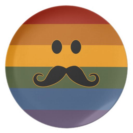 Placa del personalizado del orgullo del bigote plato de cena