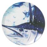 Placa del pez volador de Sammy Platos Para Fiestas