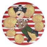 Placa del pirata plato de comida