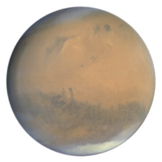 Placa del planeta: Marte Plato De Cena