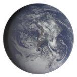 Placa del planeta: Tierra Plato Para Fiesta