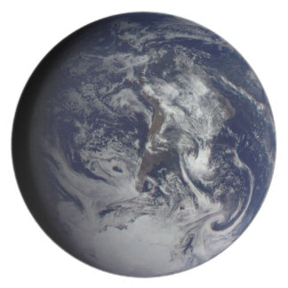 Placa del planeta Tierra Plato Para Fiesta