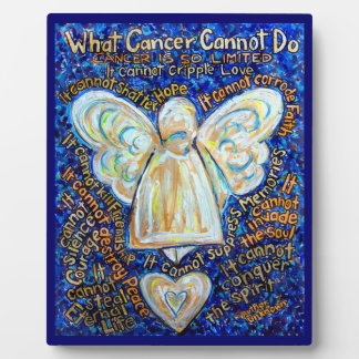 Placa del poema de la pintura del ángel del cáncer