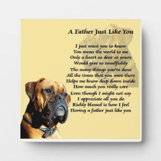 Placa del poema del padre del perro del boxeador