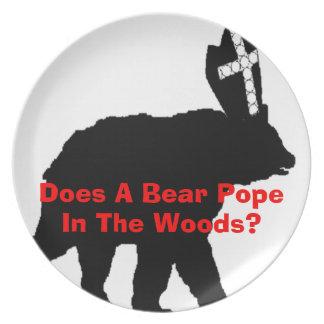 Placa del pontífice plato de comida
