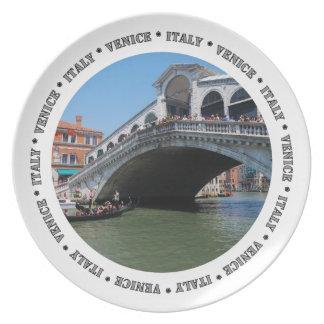 Placa del puente de Rialto Platos