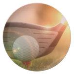 Placa del Putter del golf Plato De Cena