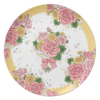 Placa del ramo (amarillo) plato