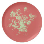 Placa del ramo de la flor platos para fiestas