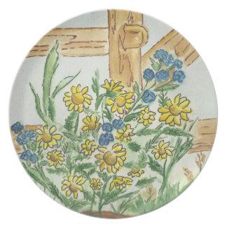 Placa del ramo del país platos