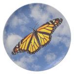 Placa del recuerdo de la mariposa de monarca plato para fiesta