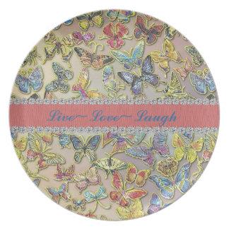 Placa del regalo de la inspiración del colector de plato de cena