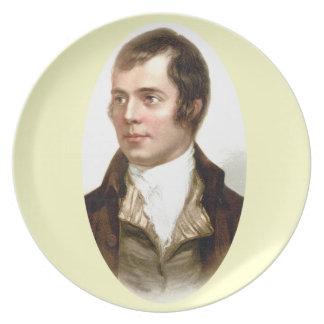 Placa del regalo de la melamina del retrato del ca plato de cena