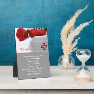 Placa del regalo del aprecio de la enfermera