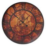 Placa del reloj de Steampunk Plato De Cena