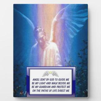 Placa del rezo del ángel de guarda