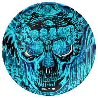 Placa del ritual del segador plato de cerámica