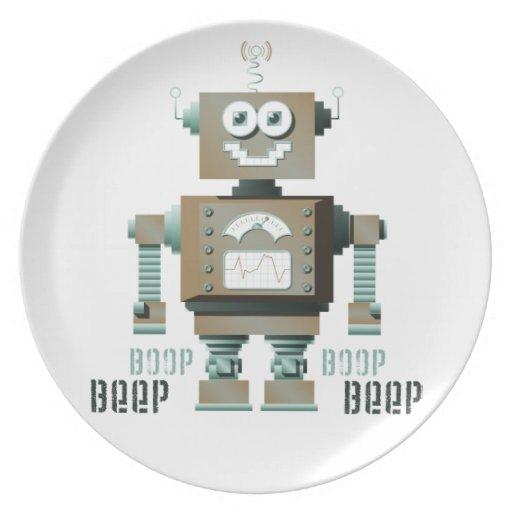 Placa del robot del juguete de la señal sonora de  platos para fiestas